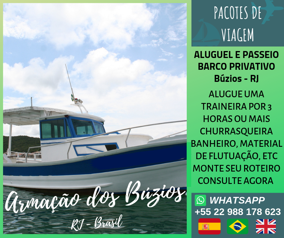 Barco privado em Búzios