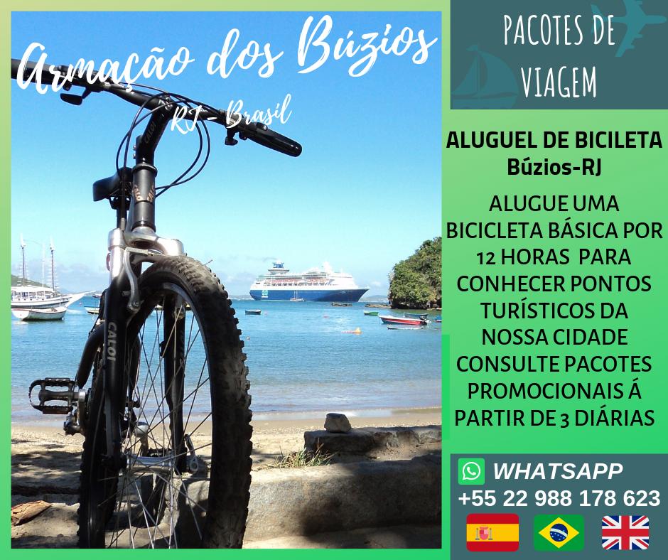 Aluguel de bicicleta básica em Búzios-RJ