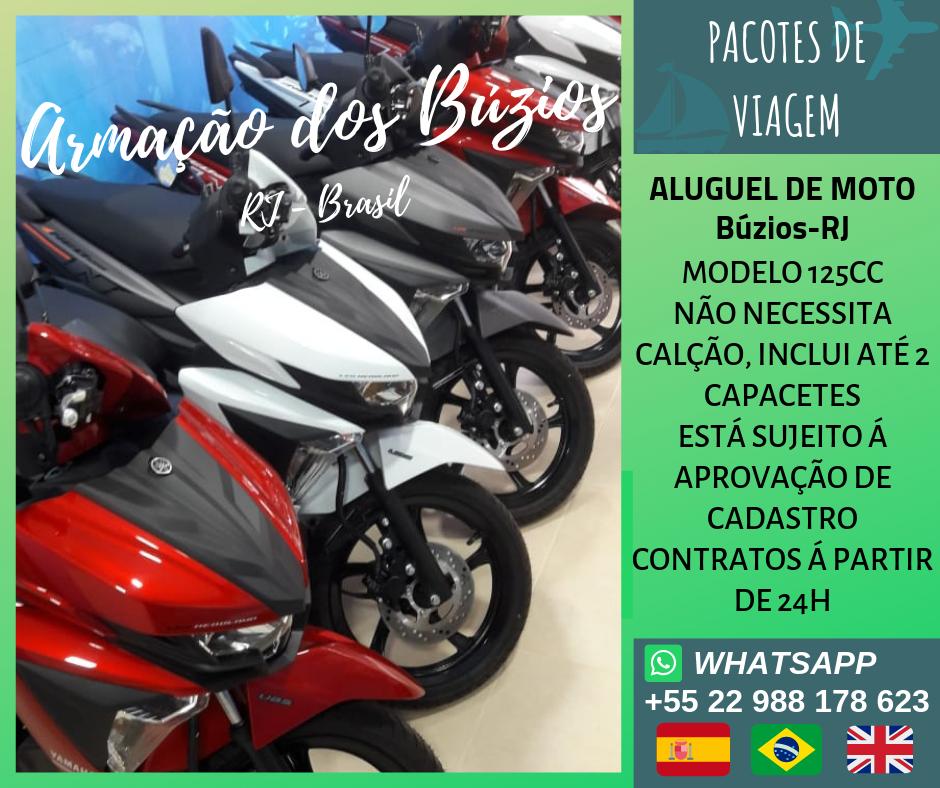 Aluguel de moto em Búzios-RJ