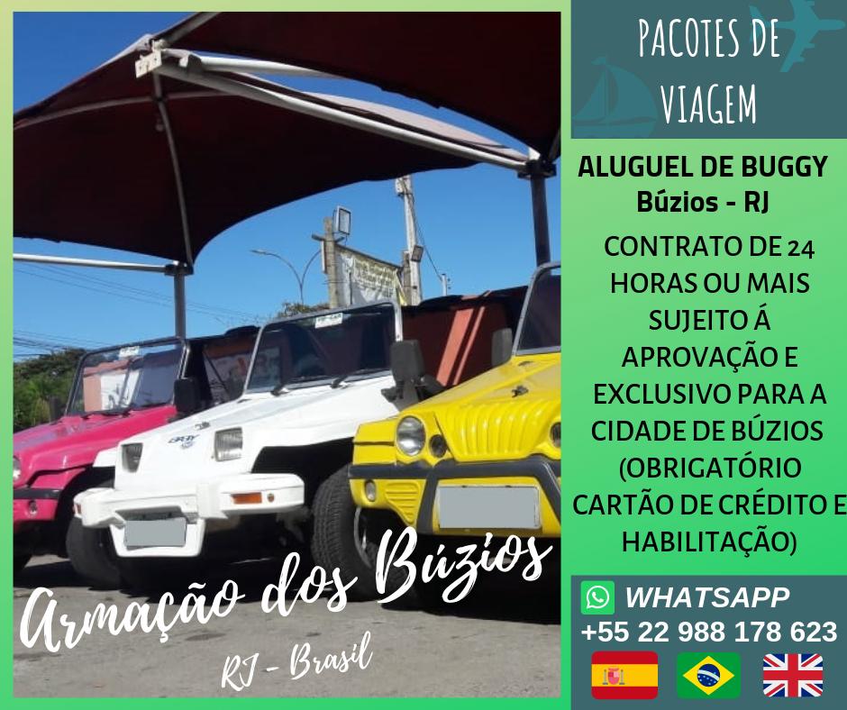Aluguel de Buggy em Búzios, Arraial do Cabo e Cabo Frio.