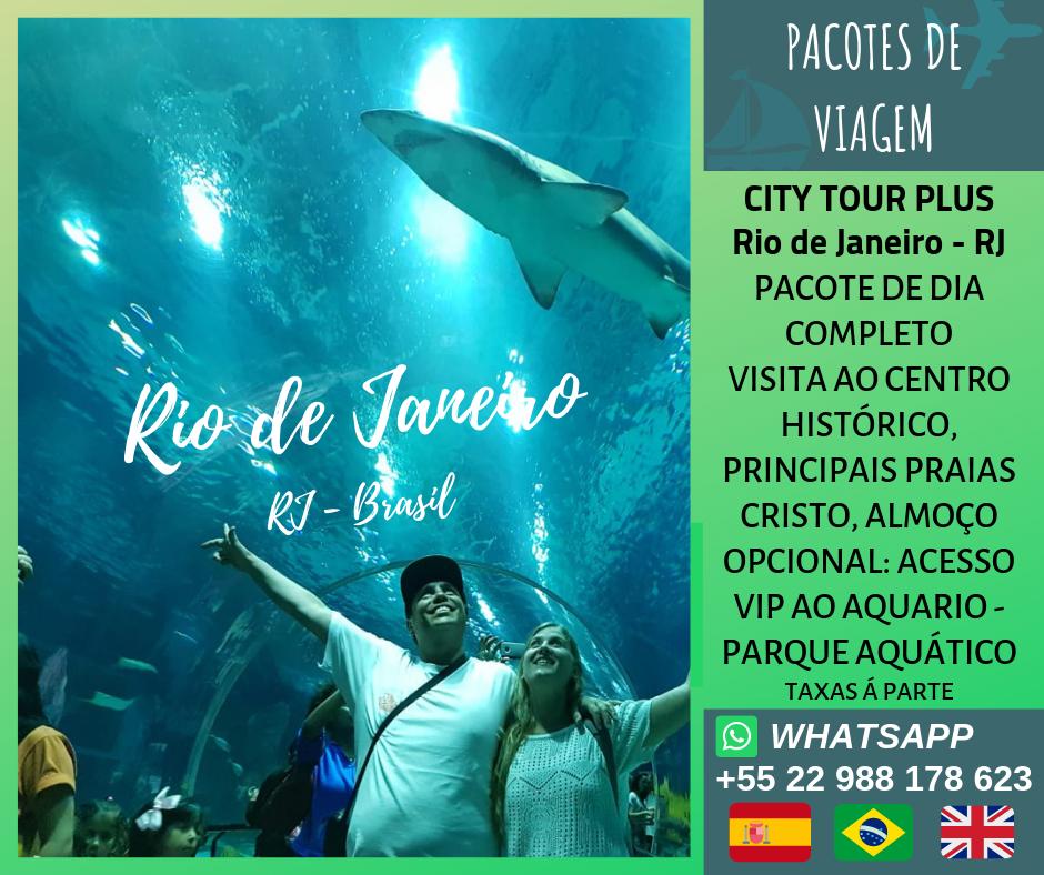 City Tour Rio de Janeiro com opção extra de parque aquático.