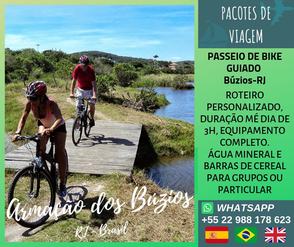 Passeio guiado de bicicleta em Búzios-RJ