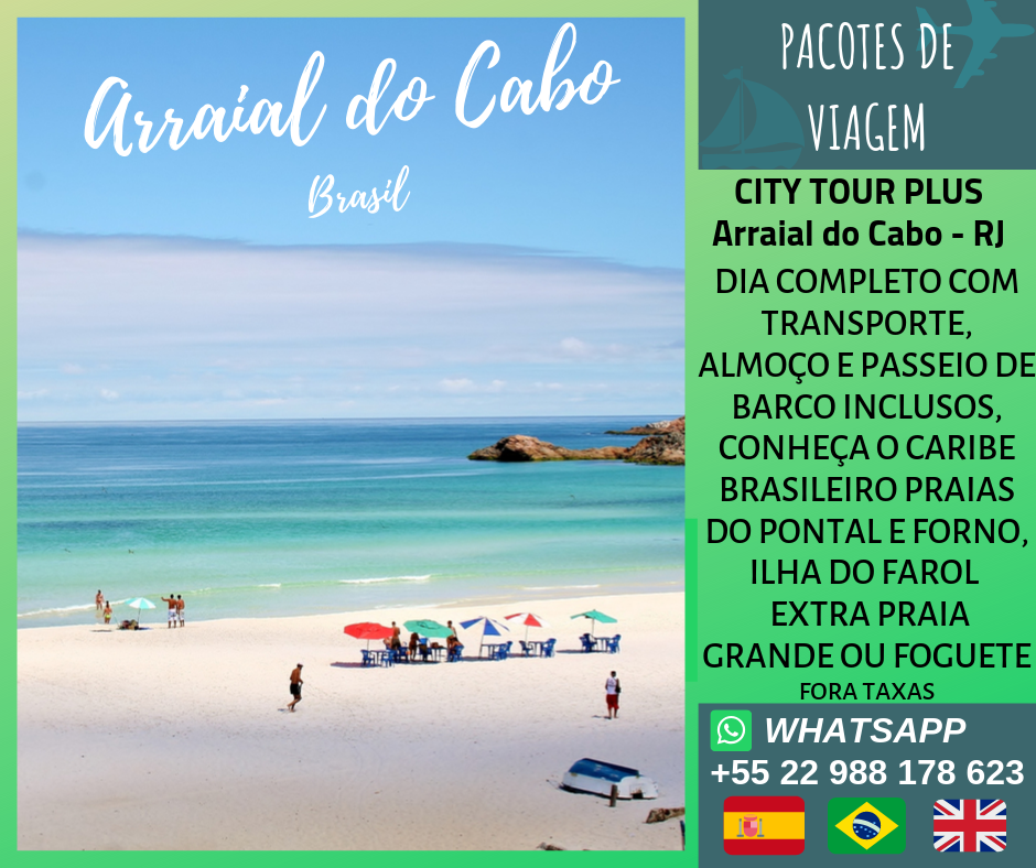 City Tour Plus Arraial do Cabo - RJ