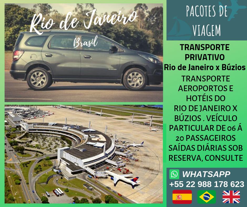 Transporte Privativo Búzios x Rio de Janeiro
